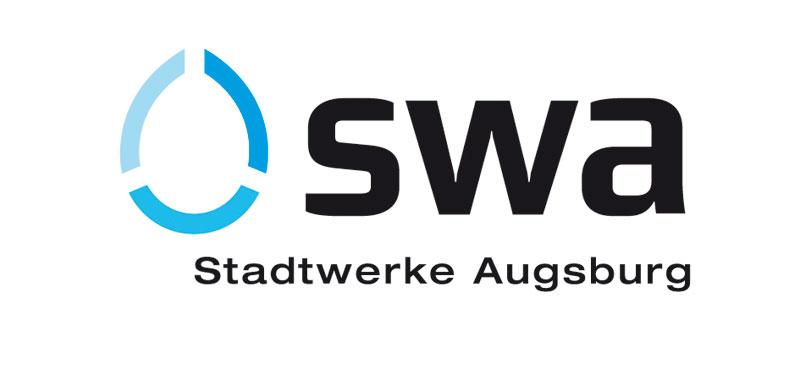 neues logo der stadtwerke augsburg kurz und sichtbar corporate identity portal. Black Bedroom Furniture Sets. Home Design Ideas